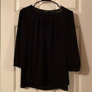Express Long Sleeved Black Blouse